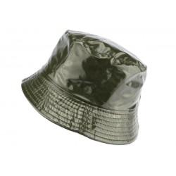 Chapeau pluie Vert Maud Nyls Création chapeau pluie Nyls Création