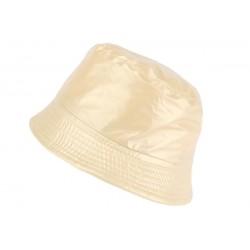 Chapeau pluie beige Maud Nyls Création chapeau pluie Nyls Création