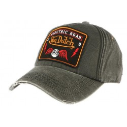 Casquette Von Dutch grise et orange Jack