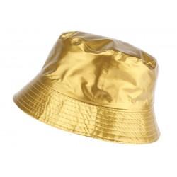 Chapeau pluie Doré Maud Nyls Création chapeau pluie Nyls Création