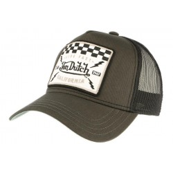 Casquette Von Dutch grise Live Fast California