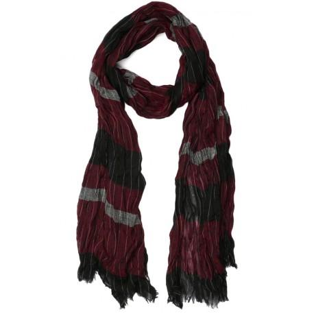 Echarpe Rouge et Noir Falyo, foulard homme bordeaux livraison en 48h! 805c842bfc9