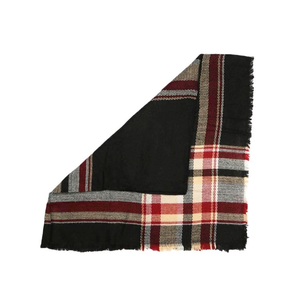 grande charpe noire et rouge en laine salya charpe laine livr 48h. Black Bedroom Furniture Sets. Home Design Ideas
