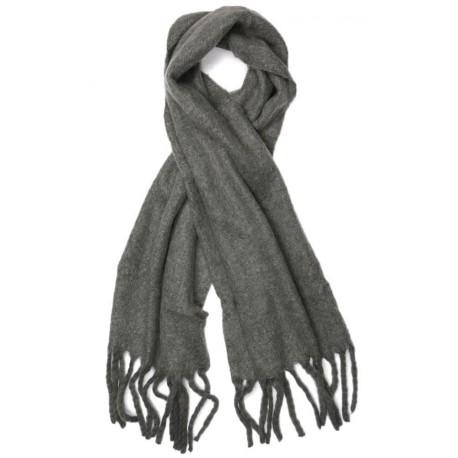 Grosse echarpe laine gris maxton grande echarpe homme femme livr 48h - Grosse echarpe en laine ...