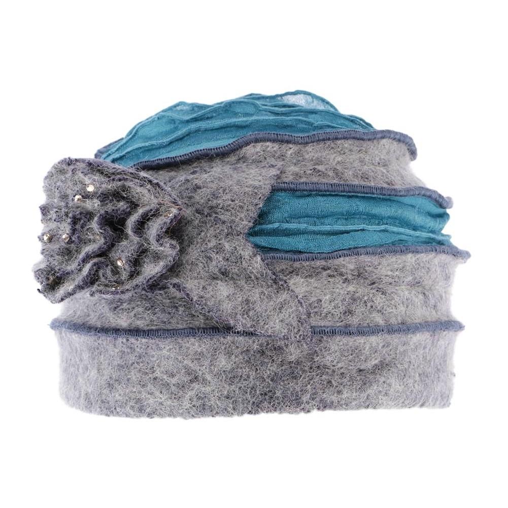 Bonnet echarpe gris laine bouillie Mona, bonnet femme classe livré 48h d1756852d8f