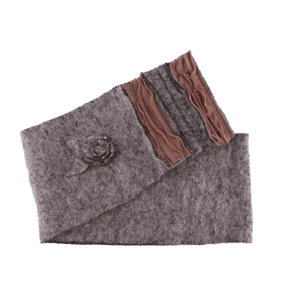 Bonnet echarpe gris marron laine bouillie Mona, bonnet femme livré 48h 3aa9a2b28bc