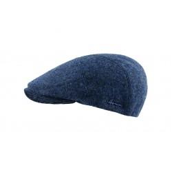 Casquette plate bleue laine vierge Dyskat Herman