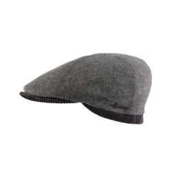 Casquette laine et velours gris Usurk Herman