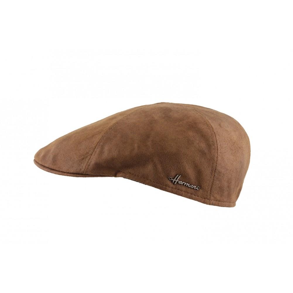 casquette plate laine marron tabac herman casquette homme livr e 48h. Black Bedroom Furniture Sets. Home Design Ideas