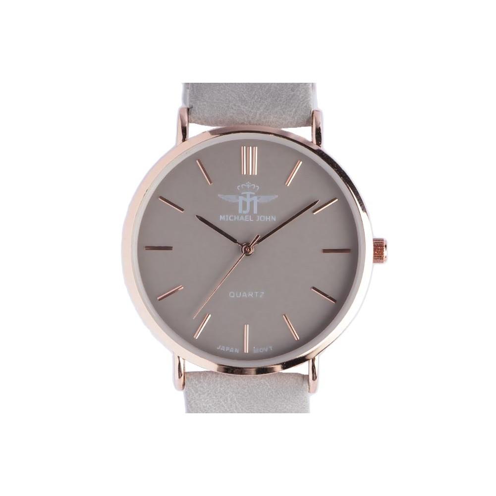 montre femme grise et dor lysa grande montre bracelet mode livr 48h. Black Bedroom Furniture Sets. Home Design Ideas