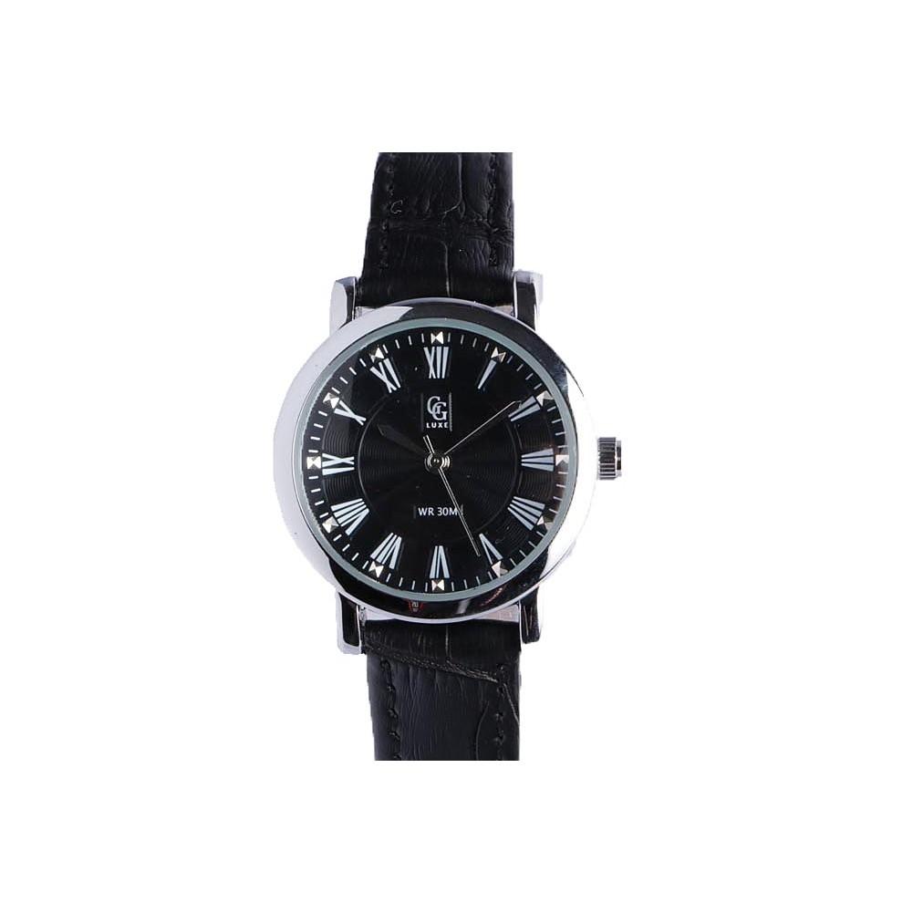 petite montre femme argent astea montre bracelet cuir noir livr 48h. Black Bedroom Furniture Sets. Home Design Ideas