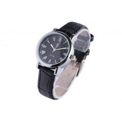 Petite montre femme bracelet cuir noir Astea