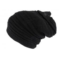 Bonnet Tube noir uni Jaica Rasta Nyls Création