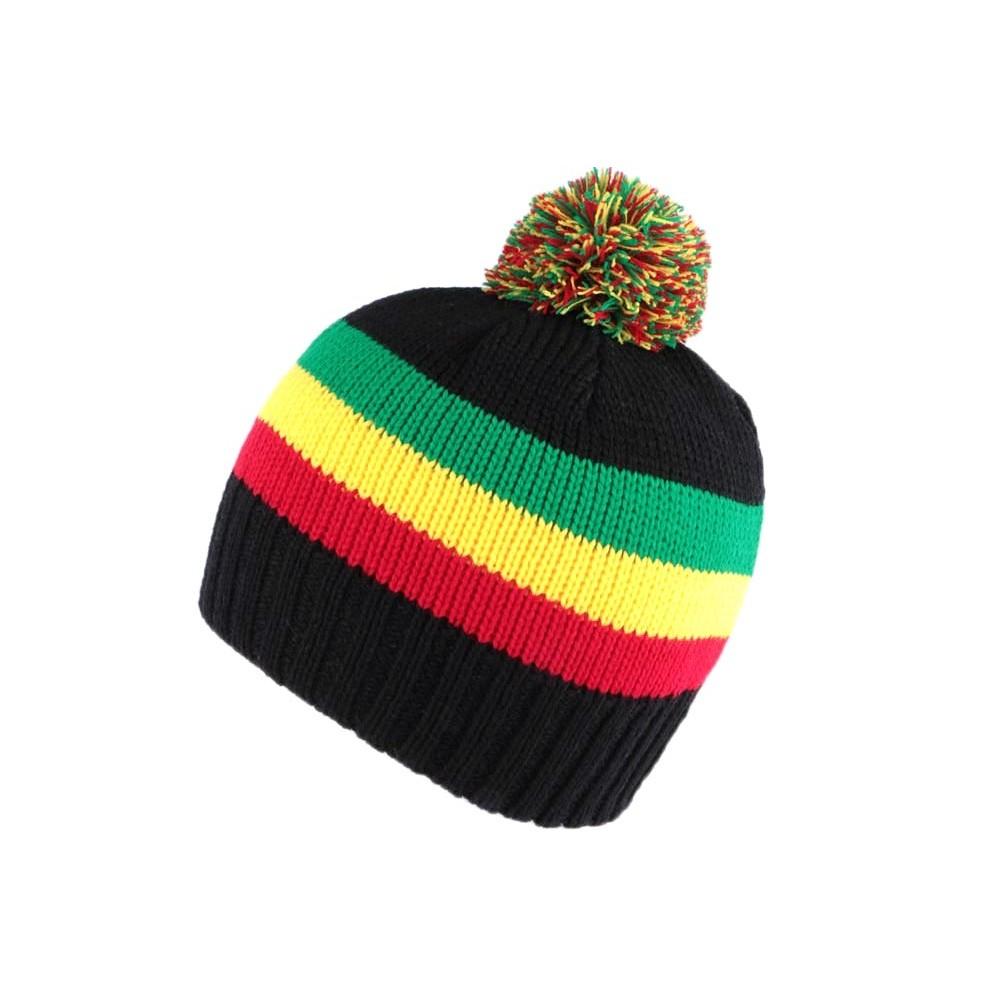bonnet jamaique court pompon achat bonnet jamaique. Black Bedroom Furniture Sets. Home Design Ideas