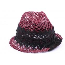Chapeau paille John rouge et noir CHAPEAUX Nyls Création