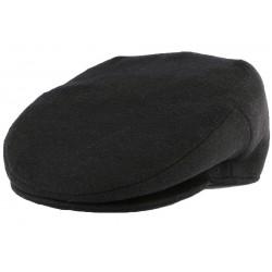 Casquette Plate Noire en laine Création Française CASQUETTES Léon montane