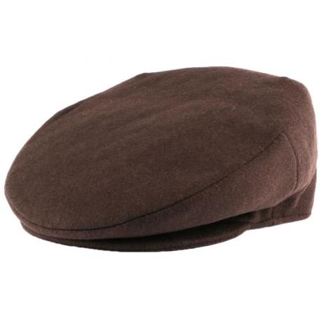 Casquette Plate Marron en laine Création Française