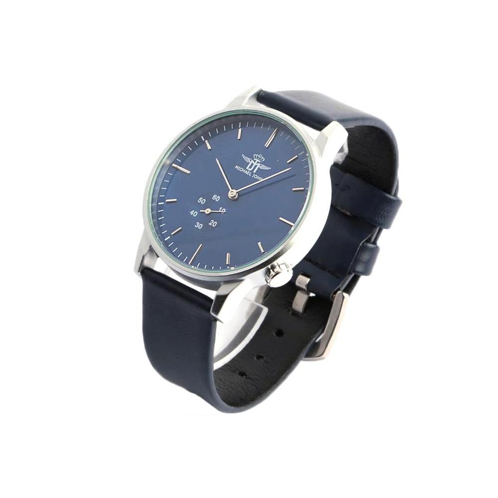 bracelet montre bleu homme mode michael john montre chic. Black Bedroom Furniture Sets. Home Design Ideas