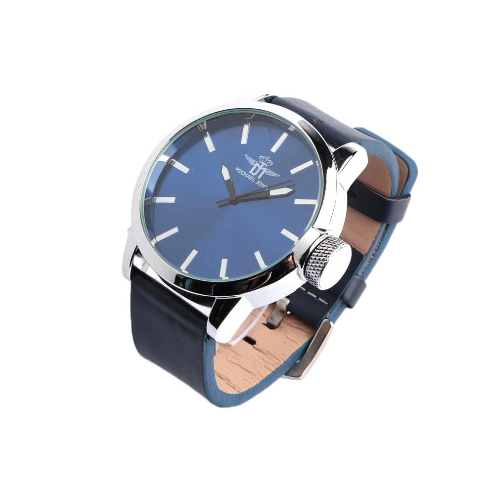 grosse montre bleue homme michael john montre tendance. Black Bedroom Furniture Sets. Home Design Ideas