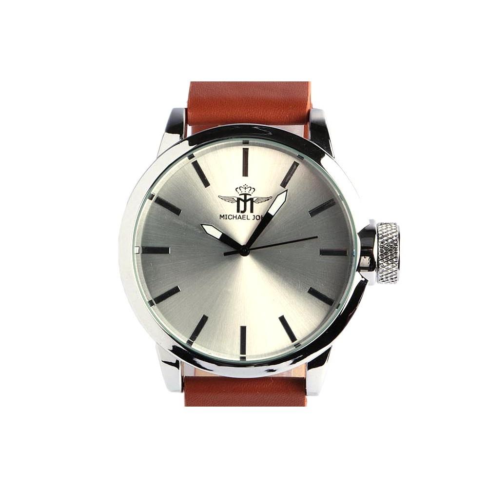 grosse montre marron homme michael john belle montre classe livr 48h. Black Bedroom Furniture Sets. Home Design Ideas
