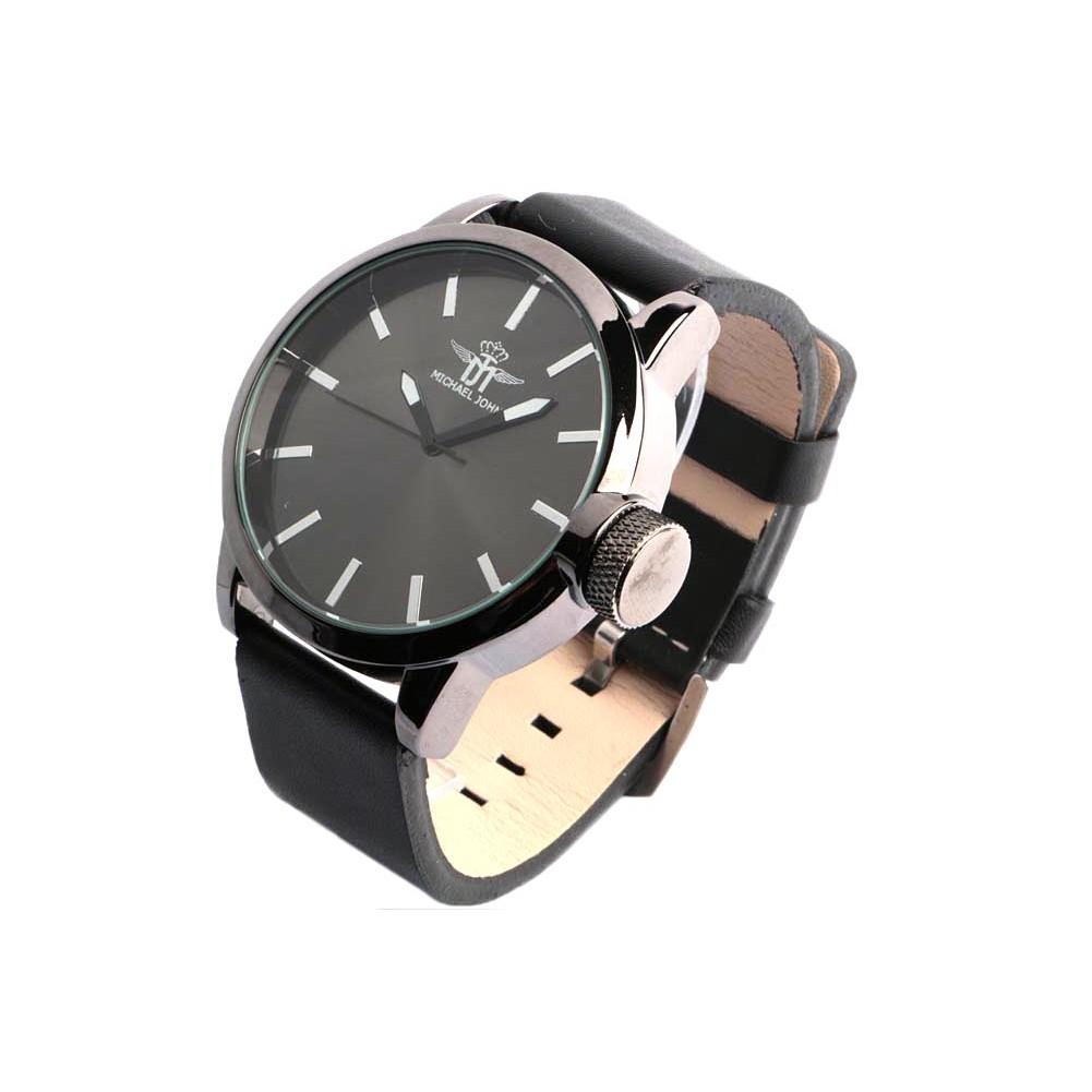 grosse montre noire homme michael john belle montre classe livr 48h. Black Bedroom Furniture Sets. Home Design Ideas