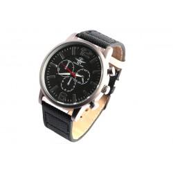 Montre noire chronographe Kex Michael John