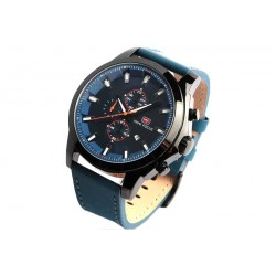 Montre chronographe bleu bracelet cuir Dytex Mini Focus