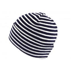 Bonnet Marin Bleu Marine et Blanc
