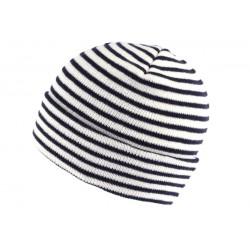 Bonnet Marin Blanc et Bleu Marine BONNETS Nyls Création