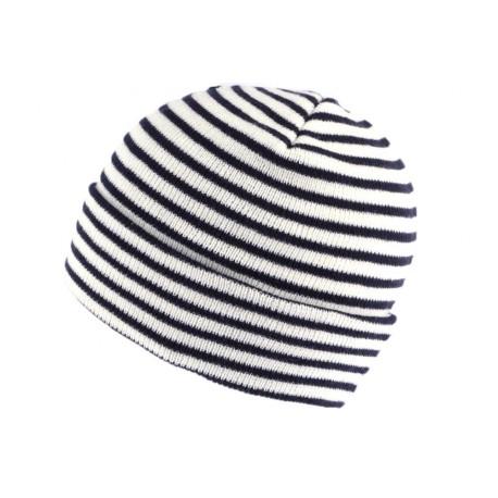 Bonnet Marin Blanc et Bleu Marine