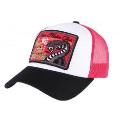Casquette Von Dutch rouge et noir Snake