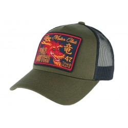 Casquette Filet Von Dutch Verte Dragon