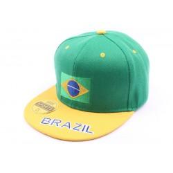 Casquette Snapback Brésil Verte et jaune, Equipe Brazil CASQUETTES PAYS