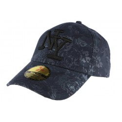 Casquette NY bleu marine fleurie Fashion ANCIENNES COLLECTIONS divers