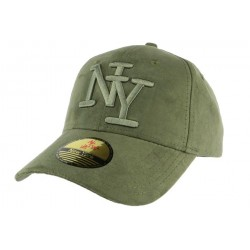 Casquette baseball NY verte effet daim Stally ANCIENNES COLLECTIONS divers
