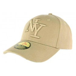 Casquette NY camel en coton Goody ANCIENNES COLLECTIONS divers