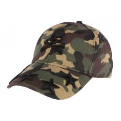 Casquette baseball camouflage tête de mort