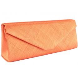Longue pochette mariage orange en sisal Maltea