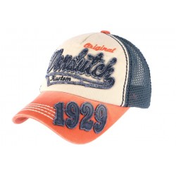 Casquette Von Dutch Orange et Bleue 1929 John ANCIENNES COLLECTIONS divers