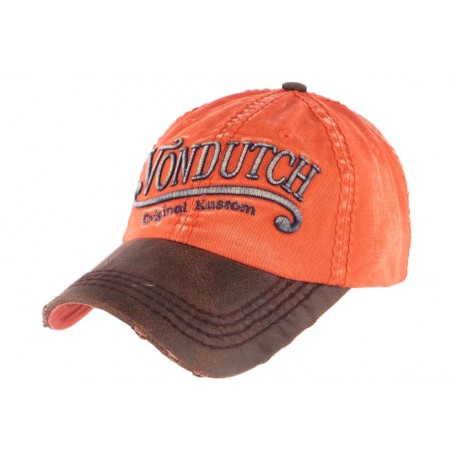 Casquette Von Dutch vintage orange Halton