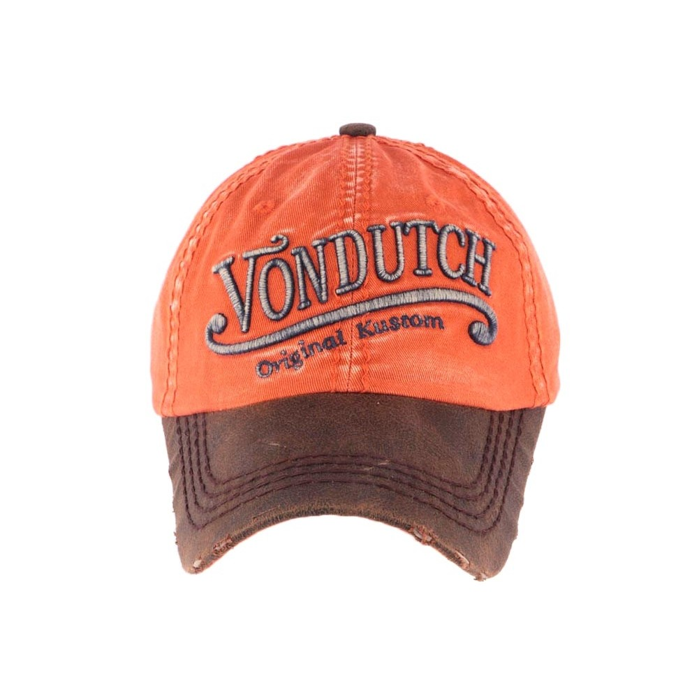 casquette von dutch orange halton casquette baseball retro livr 48h. Black Bedroom Furniture Sets. Home Design Ideas