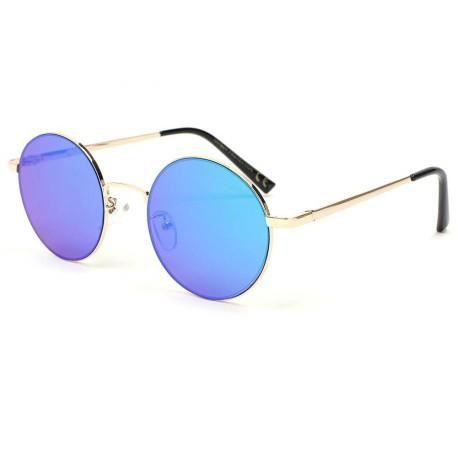 grand choix de 7e846 f8d9d Lunette de soleil miroir bleu Obladi, lunette soleil ronde livré 48h!