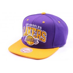Casquette snapback Los Angeles Lakers Violette et Jaune ANCIENNES COLLECTIONS divers