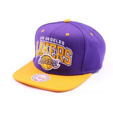 Casquette snapback Los Angeles Lakers Violette et Jaune