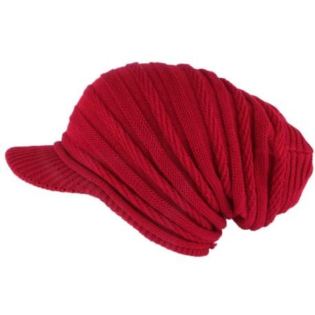 Bonnet Casquette Rasta Rouge Kift Nyls Création BONNETS Nyls Création