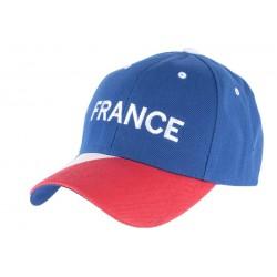 Casquette baseball France Bleu Blanc Rouge