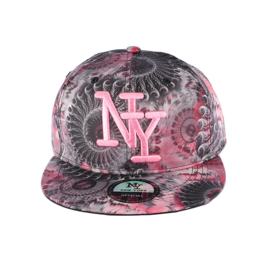 snapback ny grise et rose psycircus casquette look e psy livr 48h. Black Bedroom Furniture Sets. Home Design Ideas