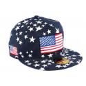Casquette Snapback Noire drapeau USA et étoiles