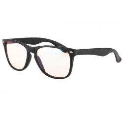 Lunette anti lumiere bleu rectangle noire Mixy