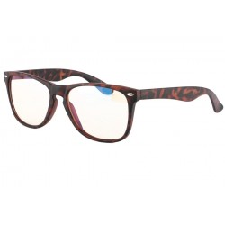 Lunette anti lumiere bleu rectangle marron Mixy